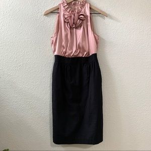 Maggy London Pink & Black Cocktail Dress Size 6